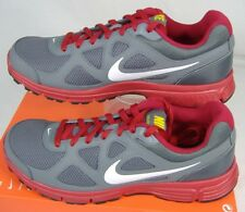 New Mens 13 NIKE Revolution Gray Red Epic Support Running Shoes $55 488183-015