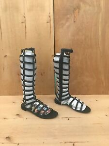NWD Stuart Weitzman Gladiator Sandals , Black Leather , Sz 8.5 M