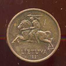 LITUANIE 20 centu 1991    ( bis )