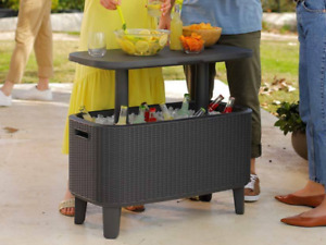 Garden Bar Cooler Large Drinks Storage BBQ Party Table Beer Ice Bottles Patio