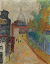 Bonnard Pierre Rue In Montmartre The Sacred Heart Canvas 16 x 20  #2209