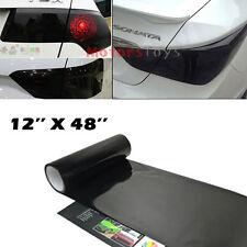 "1p of 12x48"" Glossy Black Rear Tail Brake Lamp Vinyl Wrapping Sheet Film Sticker"