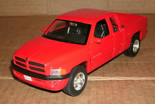1/24 Scale 1999 Dodge Ram Quad Cab 1500 Sport Diecast Model - Welly 29392 Red