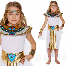 GIRLS EGYPTIAN QUEEN FANCY DRESS COSTUME EGYPT CHILDS CLEOPATRA OUTFIT KIDS 8 11