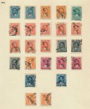 More details for ecuador stamps 1897-1898 rocafuerte 1894 large surcharge set sc #77/84 rare page