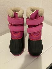 GIRLS PINK SNOW BOOTS UK 12