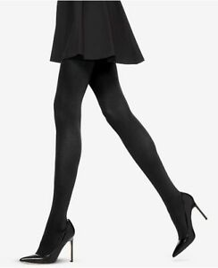 Women's Size 1 Hue Shaper Opaque Black Tights NEW
