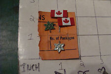vintage pair of Canadian pins and 2 tree star shapped, neat