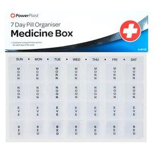 7 DAY PILL BOX HOLDER TABLET CONTAINER ORGANISER DOSE DISPENSER STORAGE VITAMIN