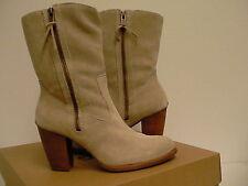 Womens UGG Australia boots LYNDA NATURAL SUEDE SHEEPSKIN HIGH size 8 us