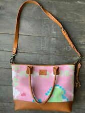 Will Leather Goods Dhurrie Rug Cross Body Tote Bag