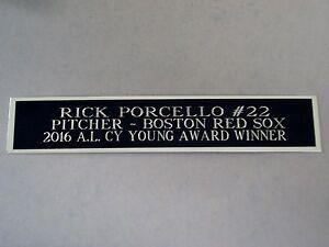 Rick Porcello Red Sox Autograph Nameplate For A Baseball Photo / Bat Case 1.5X8