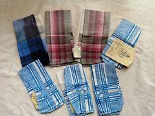 gent's men's Lot of 7 Vintage cotton Hankies Handkerchief with tags