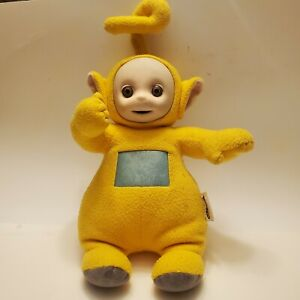 "Vintage Talking Teletubbies Plush Laa Laa Yellow 1998 Doll Playskool 16"" Hasbro"