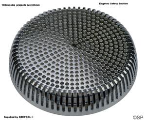 Edgetec Flexi-Flange Spa Bath Suction 192 lpm rated - Chrome