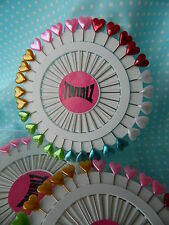 30 x PEARL Tête Coeur PINS x-long ~ pour la Couture Quilting & Couture