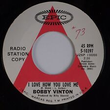 BOBBY VINTON: I Love How You Love Me USA ATLANTIC DJ PROMO 45 Pop NM-
