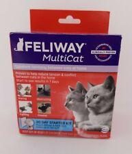 Feliway MultiCat Starter Kit Calming Diffuser w/refill for Cats Exp 4/23