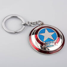 Avengers Captain America Shield Key Ring Double-sided Whirling Metal Keyring