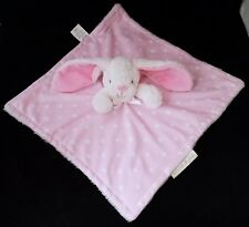 Blankets & Beyond Pink Bunny Rabbit Lovey Baby Security Blanket Polka Dots