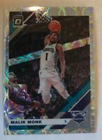2019-20 DONRUSS OPTIC MALIK MONK PREMIUM PRIZM SILVER SCOPE HOLO HORNETS #37/249