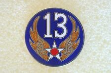US USA USAF 13th Air Force Military Hat Lapel Pin