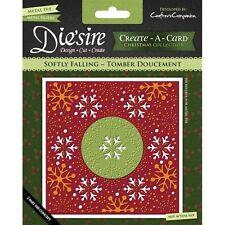 Crafters Companion DIESIRE Christmas Create a Card Die SOFTY FALLING Design Cut