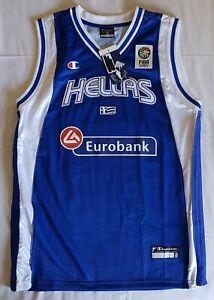 Greece 2006 FIBA World Championship basketball jersey, Champion, Size M, BNWT, b