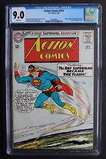 ACTION COMICS #314 SUPERMAN becomes FLASH JLA 1964 ORIGIN SUPERGIRL CGC VFNM 9.0
