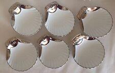 Vintage Royal Worcester oro lustre Set 6 platos de Vieira en condiciones Fab