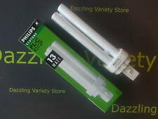 2 X Philips 13w g24d-1 2 Pin compacta fluorescente de ahorro de energía lámpara 900 Lumen