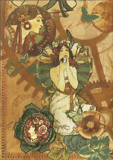 Therese Venne Steampunk Butterfly Garden ACEO Print