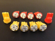 10x Chevy 168 Front Rear Amber Red SideMarker Lense LED Light Bulb Lamp Park NOS