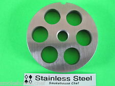 "#22 x 5/8"" Meat Grinder Plate disc Stainless Steel fits Adcraft Weston Choprite"