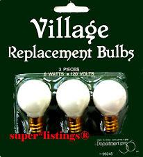 Dept. 56 Replacement Light Bulbs Set of 3 Round 6 Watts/120 Volts No. 99245