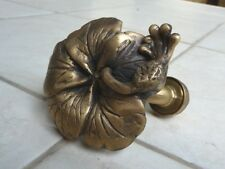 Gorgeous Vintage Flower Brass Garden/Outdoor Faucet New