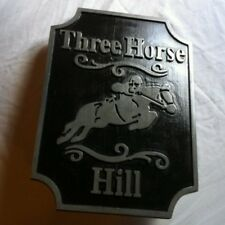 Custom Sign Horse Jumper Jumping  Personalized 3D routed sign Custom