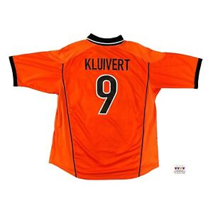 Netherlands 1998/00 International Home Soccer Jersey XL Patrick Kluivert #9 Nike