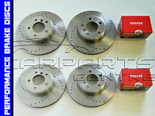 FOR PEUGEOT 106 GTI RALLYE FRONT REAR DRILLED GROOVED BRAKE DISCS BRAKE PADS