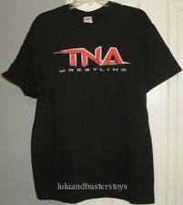 TNA Impact Wrestling Official Red Logo Black T-Shirt Size Large Brand New Shirt