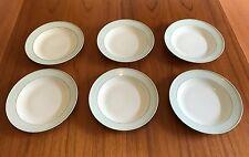 Rosenthal 6x Suppenteller Helena Art Deco Grün Gestreift um 1930 Soup Plate