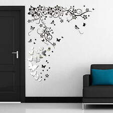 Wall Paper Art Decal Decoration Butterflies Mural Vine Living Room Stickers