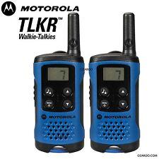 Motorola TLKR T41 2-fach Walkie Talkie Set PMR 446 Radio Set - Blau, 2er Pack