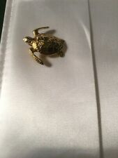 18K Yellow Gold Custom Made Turtle Pendant Weighs 15 Grams Very Nice Piece!!!