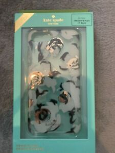 Iphone 7/8 Plus Kate Spade Case New In Packaging Floral Turqoise And Black