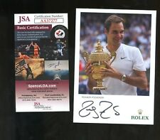 Roger Federer Tennis Signed 4x6 Photo AUTO Autograph JSA COA