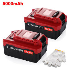 2 Pack 20V Max 5.0Ah Lithium Ion Battery for Porter Cable PCC685L PCC680L