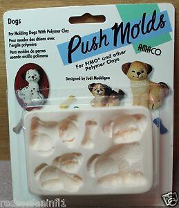 AMACO - Dog with Pups Push Mold by Designer Judi Maddigan-Rare & OOP