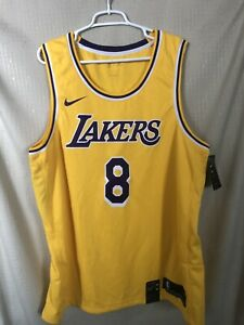 Kobe Bryant Lakers Nike Icon Gold Swingman Jersey Men's Sz XXL 100% Authentic