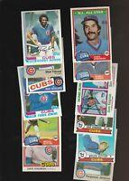 Cubs Kingman Sutter Sandberg + More Baseball  25 Card Lot Donruss Topps Fleer